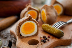 Kokurki, Rye Dough Wrapped Hard Boiled Eggs Royalty Free Stock Photos