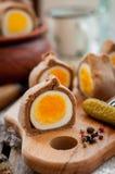 Kokurki, Rye Dough Wrapped Hard Boiled Eggs Royalty Free Stock Image