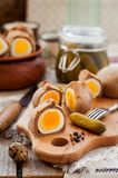 Kokurki, Rye Dough Wrapped Hard Boiled Eggs Stock Photos