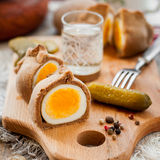 Kokurki, Rye Dough Wrapped Hard Boiled Eggs Stock Image