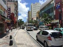 Kokusai dori, Okinawa, Międzynarodowa ulica, Japonia Zdjęcia Stock