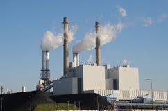 kol aktiverad kraftverk arkivbild