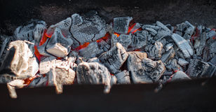 Kol i fyrpannan Royaltyfri Foto