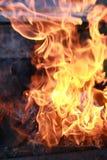 Kol- och brandflamma Royaltyfri Fotografi