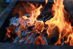 Kol- och brandflamma Royaltyfria Bilder