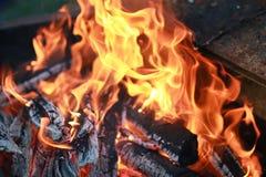 Kol- och brandflamma Fotografering för Bildbyråer