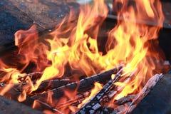 Kol- och brandflamma Royaltyfri Foto