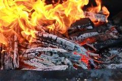 Kol- och brandflamma Royaltyfria Foton