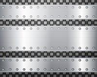Kol- och metallplattor vektor illustrationer