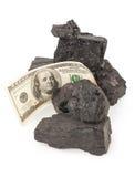 Kol och pengar royaltyfri bild