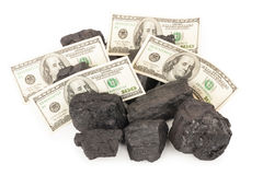 Kol och pengar arkivbild