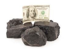Kol och pengar Royaltyfria Foton