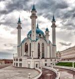 Kol Sharif Mosque in Kazan het Kremlin, Tatarstan in Rusland stock afbeelding