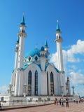 Kol Sharif Mosque in the Kazan Kremlin in the republic Tatarstan in Russia. The shot was made in August, 2015 stock photos