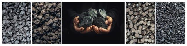 Kol tung bransch, uppvärmning, mineraliska resurser fotografering för bildbyråer