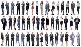 Kolaż różnorodność ludzie biznesu stoi z rzędu zdjęcie royalty free