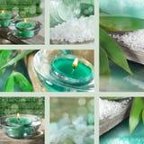 Kolaż boże narodzenie stołowe dekoracje Obraz Stock