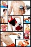 kolaż centrum sprawność fizyczna Fotografia Stock