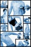 kolaż centrum sprawność fizyczna Obraz Stock