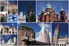kolaż Helsinki Zdjęcia Stock