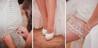Kolaż kilka fotografie dla poślubiać Zdjęcia Stock