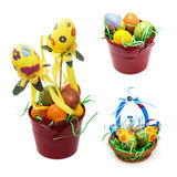 Kolaż kolorowe Easter dekoracje Obrazy Royalty Free