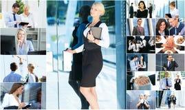 Kolaż młodzi ludzie biznesu obrazy royalty free