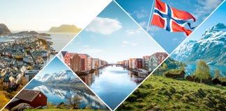 Kolaż Norwegia zdjęcie royalty free