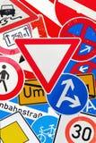 Kolaż od Niemieckich ruch drogowy znaków Obraz Royalty Free