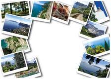 Kolaż od widoków Capri wyspa, Włochy, blisko Naples Obraz Stock