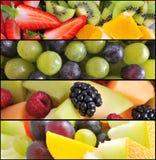 kolaż owoc zdjęcie stock