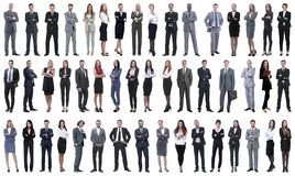 Kolaż różnorodność ludzie biznesu stoi z rzędu fotografia stock