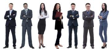 Kolaż różnorodność ludzie biznesu stoi z rzędu fotografia royalty free