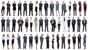 Kolaż różnorodność ludzie biznesu stoi z rzędu obraz stock