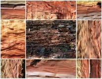 Kolaż stary bonkrety drewna tło Fotografia Royalty Free