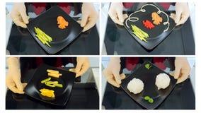 Kolaż suszi składniki dywan tła sushi kulinarny bambusowy white zbiory