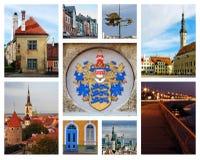 kolaż Tallinn obraz royalty free