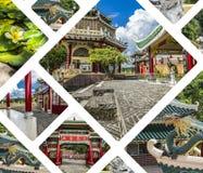 Kolaż Taoistyczna świątynia w Cebu, Filipiny - podróży backgroun fotografia royalty free