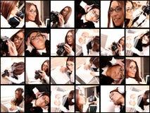 Kolaż - Technologii Dziewczyna zdjęcie royalty free