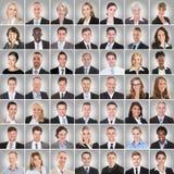 Kolaż Uśmiechnięci biznesmeni Fotografia Stock