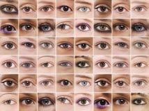 Kolaż Ustawiający kobiet oczy obrazy royalty free