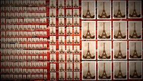 Kolaż wieża eifla Zdjęcia Royalty Free