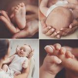Kolaż, zbroi, nogi, matka i dziecko, zdjęcia royalty free