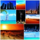 Kolaż Zjednoczone Emiraty Arabskie wizerunki Obrazy Royalty Free