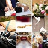kolażu ślub Obrazy Royalty Free