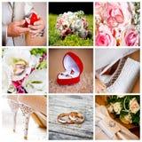 kolażu ślub Zdjęcia Royalty Free