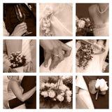 kolażu ślub Obraz Royalty Free