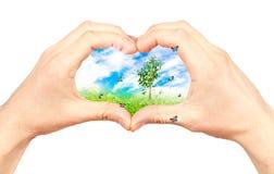 kolażu środowiska symbol Zdjęcia Royalty Free