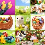 kolażu Easter o temacie tradycyjny zdjęcia stock