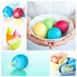 kolażu Easter wizerunków rozmaitość zdjęcia stock